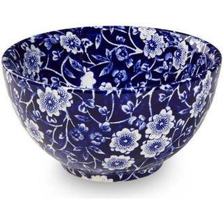 Burleigh Blue Calico Sugar bowl 9.5 cm