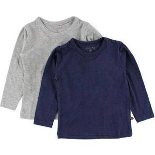 Minymo T-shirt LS 2-pak - Dark Navy (3934-778)