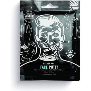 Barber Pro Face Putty Peel-Off Mask with Activated Charcoal 3-pack
