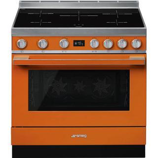 "Smeg CPF9IPOR SMEG 90cm ""Portofino"" Cooker with Pyrolytic Multifunction Ov… Orange"