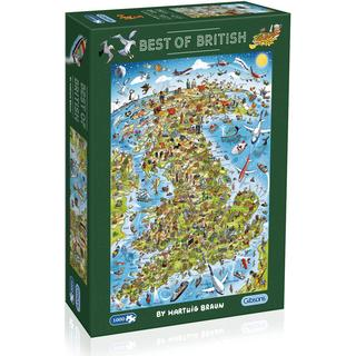 Gibsons Best of British 1000 Pieces