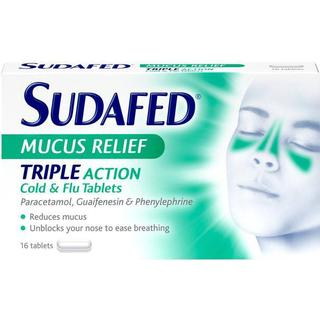Sudafed Mucus Relief Triple Action 16pcs