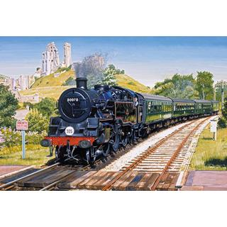 Gibsons Corfe Castle Crossing 500 Pieces