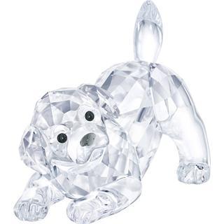 Swarovski Labrador Puppy Playing 3.6cm Figurine