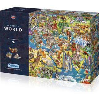 Gibsons Wonderful World 1000 Pieces