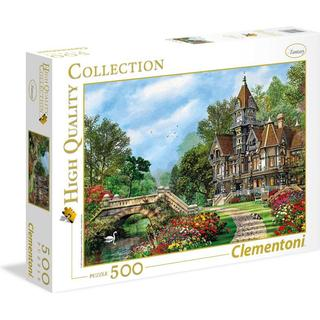 Clementoni High Quality Collection Old Waterway Cottage 500 Pieces
