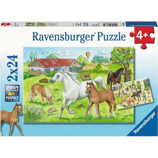 Ravensburger The Horses at the Stable 2x24 Pieces