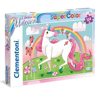Clementoni SuperColor I Believe in Unicorns 104 Pieces