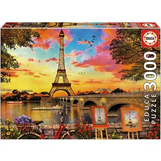 Educa Sunset in Paris 3000 Pieces