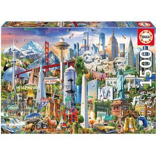 Educa North America Landmarks 1500 Pieces