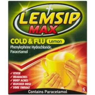 Lemsip Max Cold & Flu Lemon 650mg 5pcs
