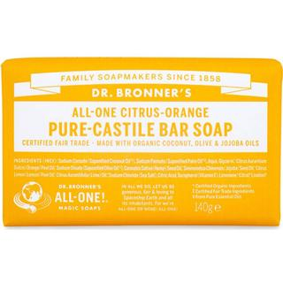 Dr. Bronners Pure Castile Bar Soap Citrus Orange