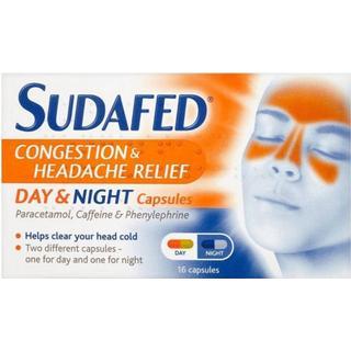 Sudafed Congestion & Headache Relief Day & Night 16pcs