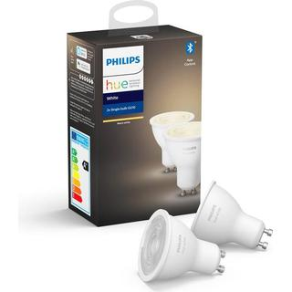 Philips Hue White LED Lamps 5.2W GU10 2-pack