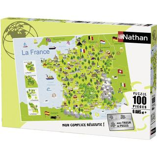 NATHAN France-illustration map 100 Pieces
