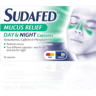 Sudafed Mucus Relief Day & Night 16pcs