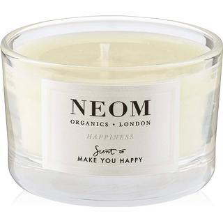 Neom Organics Happiness Travel Scented Candle White Neroli Mimosa & Lemon 75g