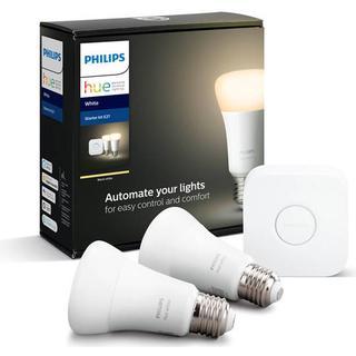 Philips Hue White LED Lamps 9W E27 2-pack Starter kit