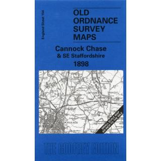 Cannock Chase and SE Staffordshire 1898: One Inch Map 154