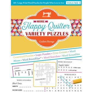 More Happy Quilter Variety Puzzles-Volume 3: 60+... (Bog, Paperback / softback)