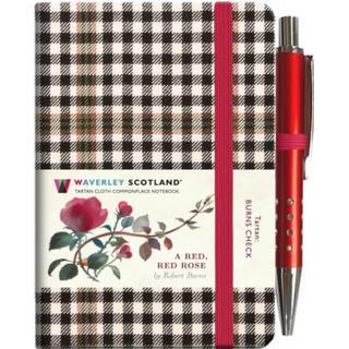 A Red, Red Rose Tartan Notebook (mini with pen) (Burns... (Bog, Hardback)