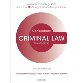 Criminal Law Concentrate: Law Revision and Study Guide (Bog, Paperback / softback)