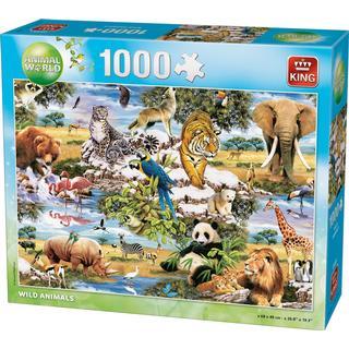 King Animals World Wild Animals 1000 Pieces