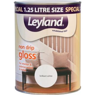 Leyland Trade Non Drip Gloss Wood Paint, Metal Paint White 0.75L