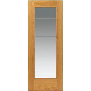 JB Kind Medina Pre-finished Interior Door Clear Glass (72.6x204cm)