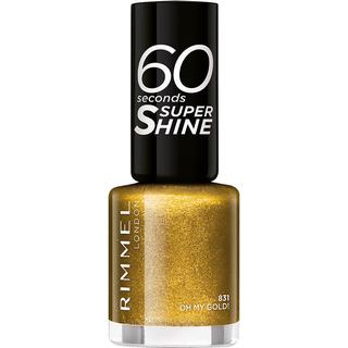 Rimmel 60 Seconds Super Shine Nail Polish #831 Oh My Gold 8ml