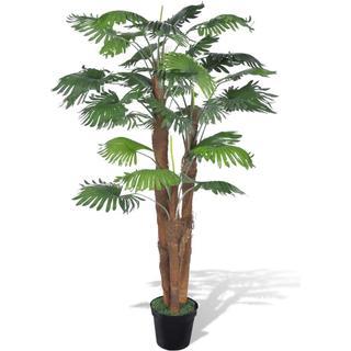 vidaXL Artificial Fan Palm Tree with Pot 180cm