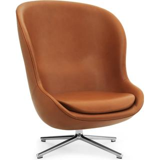 Normann Copenhagen Hyg High Leather 84.5cm Lounge Chair