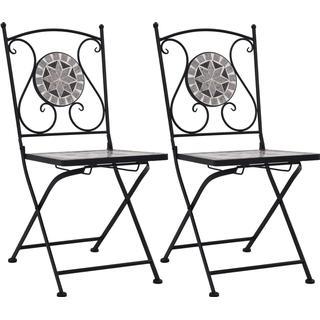 vidaXL Mosaic Bistro 2-pack Armless Chair