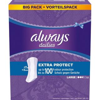 Always Dailies Extra Protect Large 52-pack