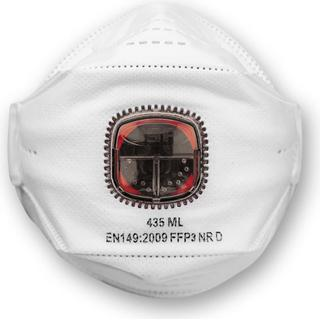 JSP Springfit 435ML Fold Flat Valved Respirator FFP3 10-pack