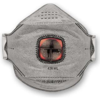 JSP Springfit 436ML Fold Flat Valved Respirator FFP3 10-pack
