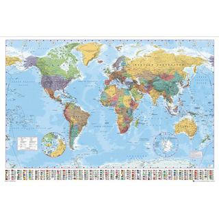GB Eye World Map 100x140cm Poster