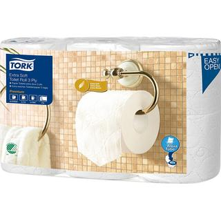 Tork Premium Extra Soft Conventional T4 3-Ply Toilet Paper 6-pack