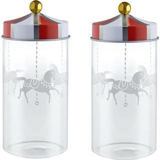 Alessi Circus 14 cl Storage Jars 5.3 cm 2 pcs