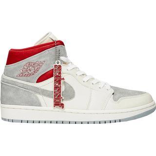 Nike Air Jordan 1 Mid Premium M - Sail/Wolf Grey/Gym Red/White