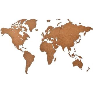 MiMi Innovations Wooden World Map 90cm Wall Decor