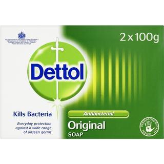 Dettol Antibacterial Original Bar Soap 100g 2-pack