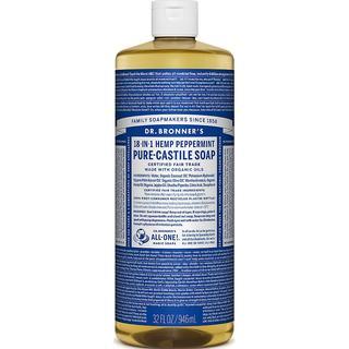 Dr. Bronners Pure-Castile Liquid Soap Peppermint 946ml