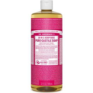 Dr. Bronners Pure-Castile Liquid Soap Rose 946ml