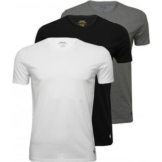 Polo Ralph Lauren Cotton Crew Neck T-shirt 3-pack - Black/Grey/White