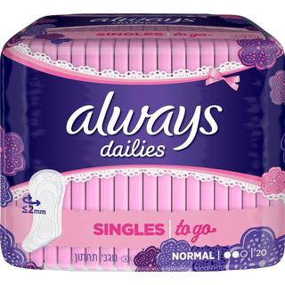 Always Dailies Singles To Go Normal 20-pack