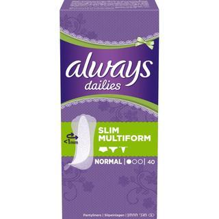 Always Dailies Slim Multiform Normal 40-pack