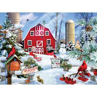 Sunsout A Snowy Day on The Farm XXL 1000 Pieces