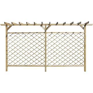 vidaXL Lattice Fence with Pergola 393.5x200cm