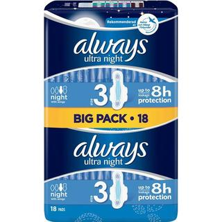 Always Ultra Night Size 3 18-pack